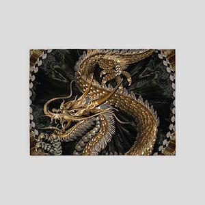 Gold Dragon 5'x7'Area Rug