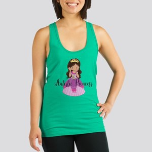 Autistic Princess Ethnic Racerback Tank Top