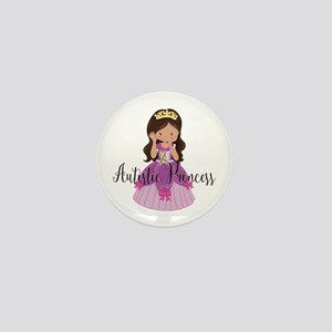 Autistic Princess Ethnic Mini Button