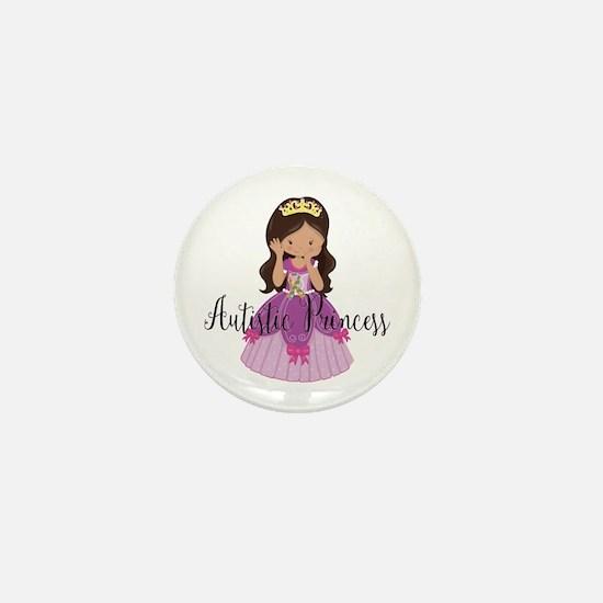 Autistic Princess Ethnic Mini Button
