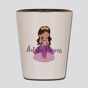 Autistic Princess Ethnic Shot Glass