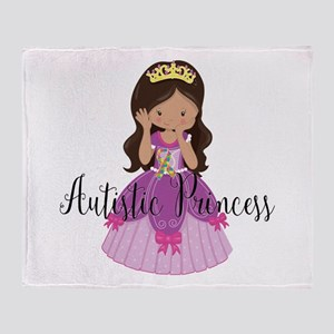 Autistic Princess Ethnic Throw Blanket