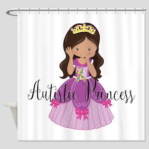 Autistic Princess Ethnic Shower Curtain