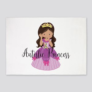 Autistic Princess Ethnic 5'x7'Area Rug