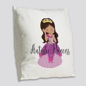 Autistic Princess Ethnic Burlap Throw Pillow