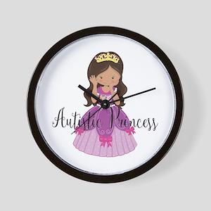 Autistic Princess Ethnic Wall Clock