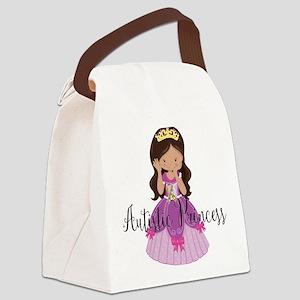 Autistic Princess Ethnic Canvas Lunch Bag