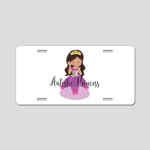 Autistic Princess Ethnic Aluminum License Plate