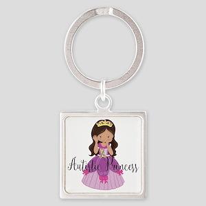 Autistic Princess Ethnic Square Keychain