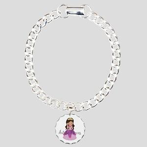 Autistic Princess Ethnic Charm Bracelet, One Charm