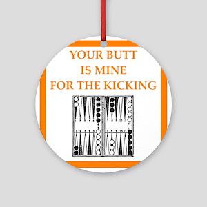 backgammon joke n gifts and t-shirts. Round Orname