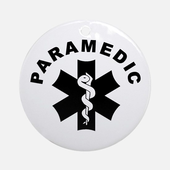 Paramedic Star Of Life Ornament (Round)
