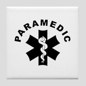 Paramedic Star Of Life Tile Coaster