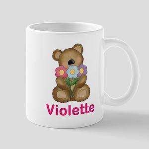 Violette's Bouquet Bear Mug