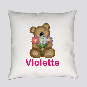 Violette's Bouquet Bear Everyday Pillow