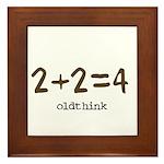 2+2=4 Framed Tile
