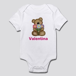 Valentina's Bouquet Bear Infant Bodysuit
