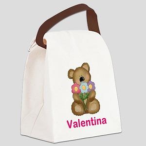 Valentina's Bouquet Bear Canvas Lunch Bag
