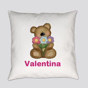 Valentina's Bouquet Bear Everyday Pillow