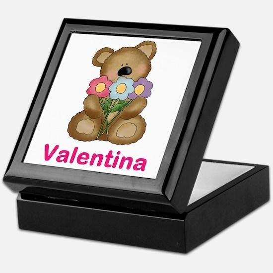 Valentina's Bouquet Bear Keepsake Box