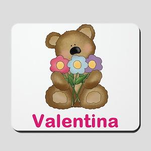 Valentina's Bouquet Bear Mousepad