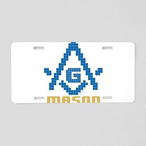 8-Bit Masonic Aluminum License Plate
