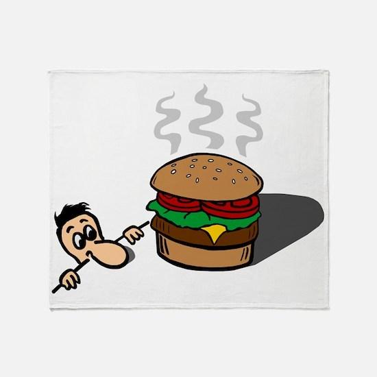 Cute Burger king Throw Blanket