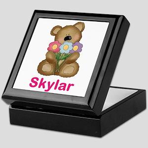 Skylar's Bouquet Bear Keepsake Box