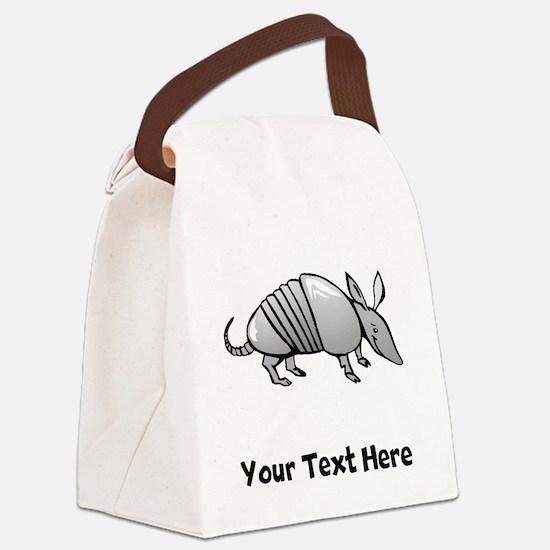 Grey Armadillo (Custom) Canvas Lunch Bag