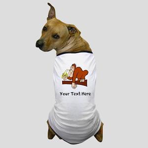 Monkey With Banana (Custom) Dog T-Shirt