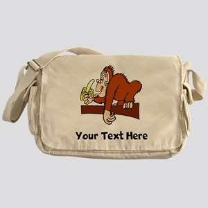 Monkey With Banana (Custom) Messenger Bag