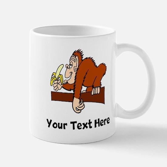 Monkey With Banana (Custom) Mugs