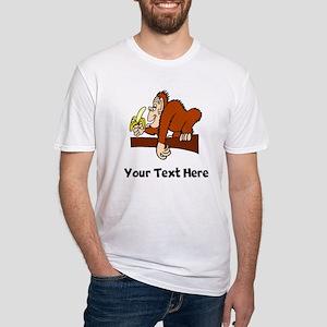 Monkey With Banana (Custom) T-Shirt