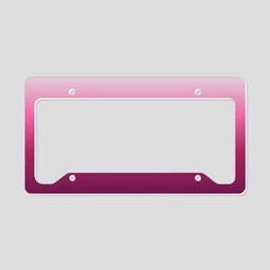abstract magenta fuchsia ombr License Plate Holder