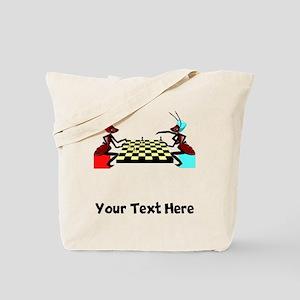 Ants Playing Chess (Custom) Tote Bag