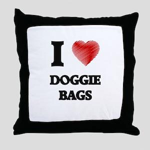 I love Doggie Bags Throw Pillow