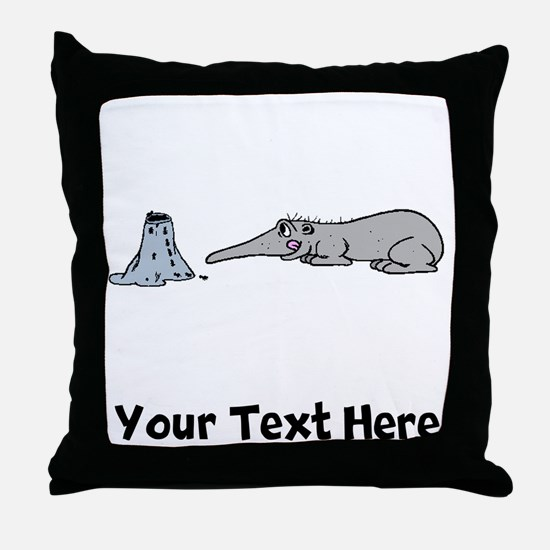 Anteater And Ant Hill (Custom) Throw Pillow