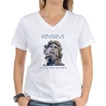 Odysseus Is My Homer-Boy Women's V-Neck T-Shirt