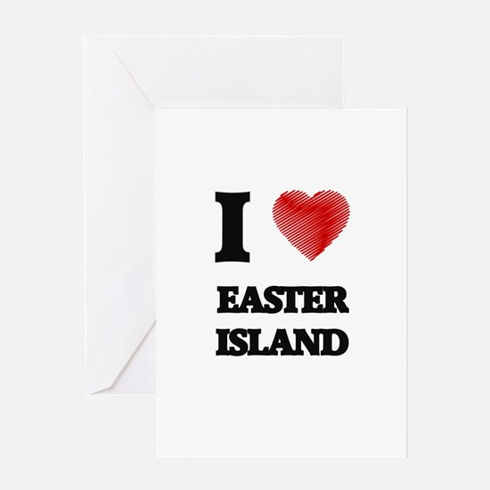 I love Easter Island Greeting Cards