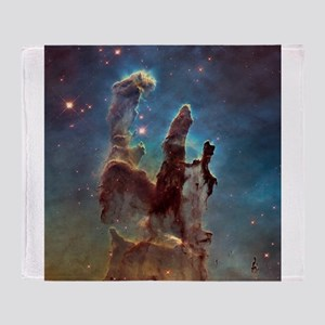 Eagle Nebula's Pillars of Creation Throw Blanket