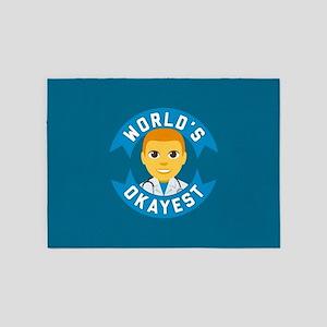 Emoji Worlds Okayest Doctor 5'x7'Area Rug