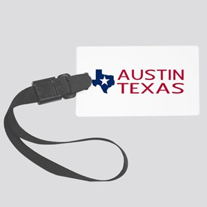 Texas: Austin (State Shape & Sta Large Luggage Tag