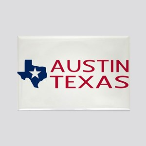 Texas: Austin (State Shape & Star Rectangle Magnet