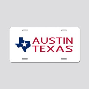 Texas: Austin (State Shape Aluminum License Plate