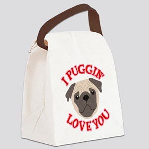 I Puggin' Love You Canvas Lunch Bag