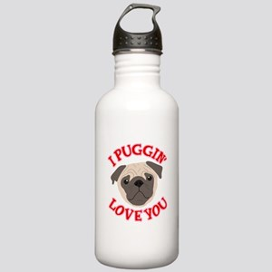 I Puggin' Love You Stainless Water Bottle 1.0L