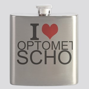 I Love Optometry School Flask