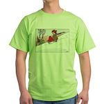 1930's Snow Fun #4 Green T-Shirt