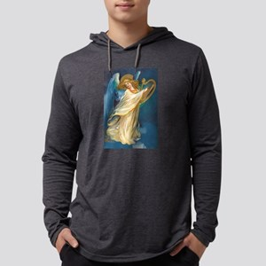 Christmas Angel and Gold Harp Long Sleeve T-Shirt