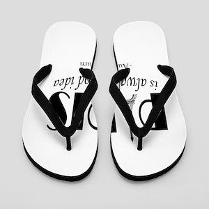 Audrey Hepburn Paris Quote Black Flip Flops